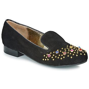 Schoenen Dames Mocassins Lola Ramona PENNY Zwart / Goud
