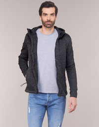 Textiel Heren Sweaters / Sweatshirts Superdry STORM INTERNATIONAL ZIPHOOD Zwart
