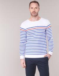 Textiel Heren T-shirts met lange mouwen Armor Lux YAYAYOUT Wit / Blauw / Rood