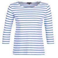 Textiel Dames T-shirts met lange mouwen Armor Lux YAYAROULE Wit / Blauw