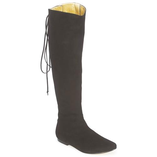 Schoenen Dames Hoge laarzen French Sole PRINCE Zwart