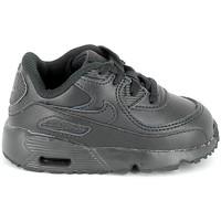 Schoenen Kinderen Lage sneakers Nike Air Max 90 Cuir BB Noir 833416 001 Zwart