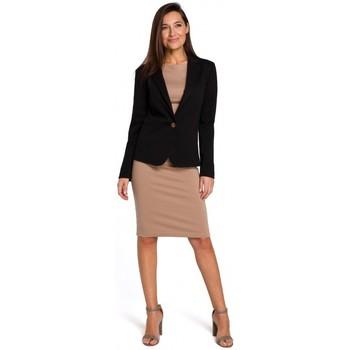 Textiel Dames Jurken Style S154 Blazer met enkele knopen - zwart