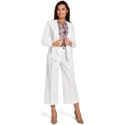 Textiel Dames Jumpsuites / Tuinbroeken Style S140 Getailleerde blazer met ritsen - ecru