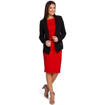 Textiel Dames Jumpsuites / Tuinbroeken Style S140 Getailleerde blazer met ritsen - zwart