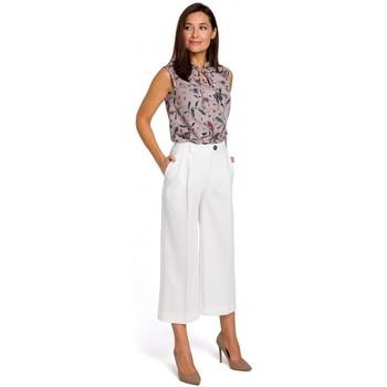 Textiel Dames Jurken Style S139 Cullotes - ecru