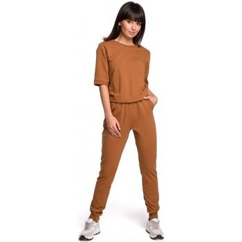 Textiel Dames Jumpsuites / Tuinbroeken Be B104 V-hals rugjurk - militair groen