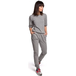 Textiel Dames Trainingspakken Be B104 V-hals rugjurk - grijs