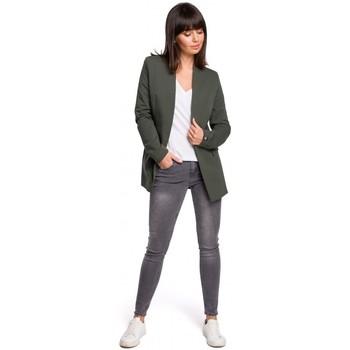 Textiel Dames Tops / Blousjes Be B102 open blazer van katoen-blend - militair groen
