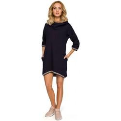 Textiel Dames Tops / Blousjes Moe M401 Tuniek met kap - marineblauw