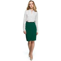 Textiel Dames Tops / Blousjes Style S127 Wikkel kokerrok - groen