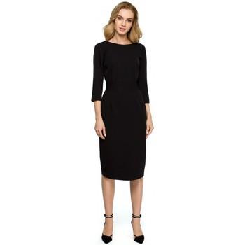 Textiel Dames Korte jurken Style S119 Effen button down jurk - zwart