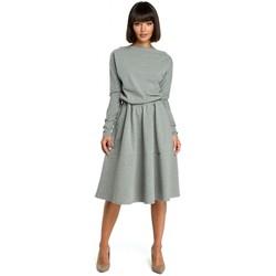 Textiel Dames Jurken Be B087 Dress fit and flare midi - grijs