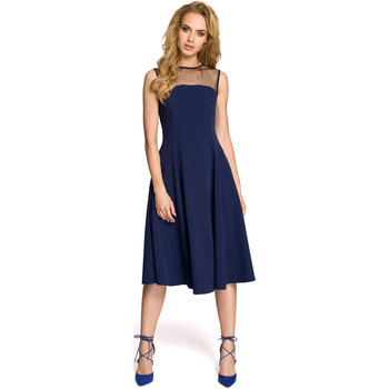 Textiel Dames Jurken Be B087 Dress fit and flare midi - zwart