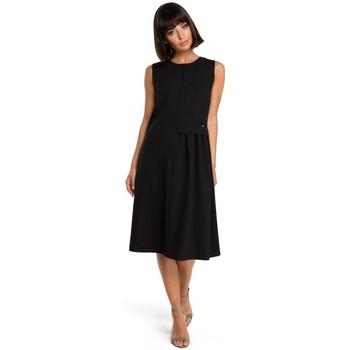 Textiel Dames Korte jurken Be B080 Luchtige mouwloze midi-jurk - zwart