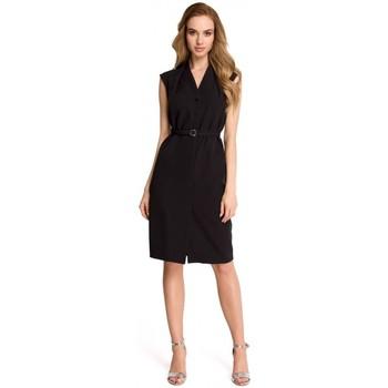 Textiel Dames Jurken Style S102 Mouwloze hemdjurk - zwart
