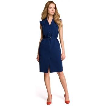 Textiel Dames Jurken Style S102 Mouwloze hemdjurk - marineblauw