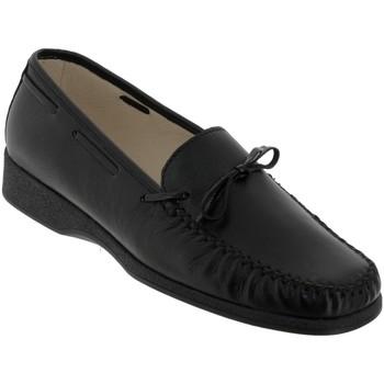 Schoenen Dames Mocassins Marco NICE Zwart leer