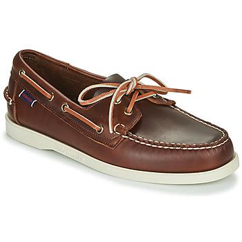 Schoenen Heren Bootschoenen Sebago DOCKSIDES PORTLAND WAXED Bruin