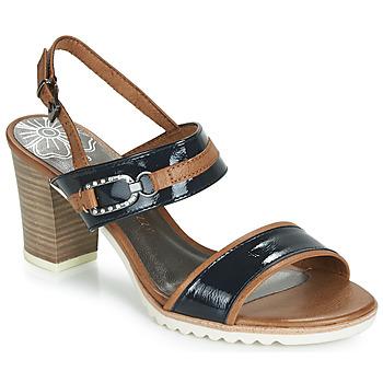 Schoenen Dames Sandalen / Open schoenen Marco Tozzi TRELEME Camel / Marine