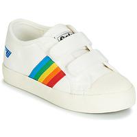 Schoenen Kinderen Lage sneakers Gola COASTER RAINBOW VELCRO Wit