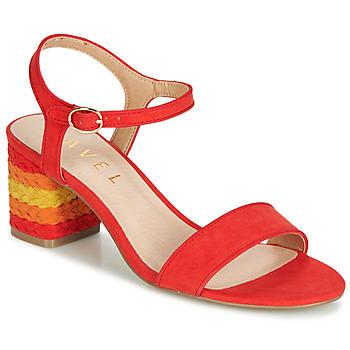 Schoenen Dames Sandalen / Open schoenen Ravel CLEMONT Oranje