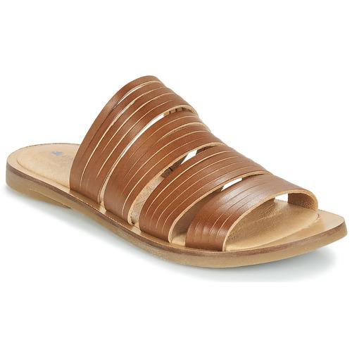 Schoenen Dames Leren slippers El Naturalista TULIP Bruin