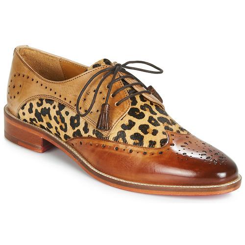 Schoenen Dames Derby Melvin & Hamilton BETTY-4 Bruin / Luipaard