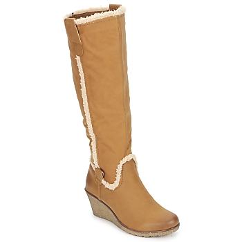 Schoenen Dames Hoge laarzen StylistClick SANAA Camel