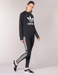 Textiel Dames Leggings adidas Originals TREFOIL TIGHT Zwart