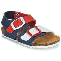 Schoenen Kinderen Sandalen / Open schoenen Garvalin BIO  BOY Marine / Rood / Wit