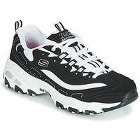 Schoenen Dames Lage sneakers Skechers D'LITES Zwart / Wit