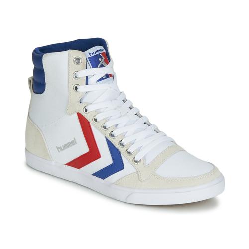 Schoenen Hoge sneakers Hummel TEN STAR HIGH CANVAS Wit / Blauw / Rood