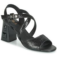 Schoenen Dames Sandalen / Open schoenen Geox D SEYLA S. HIGH PLUS Zwart
