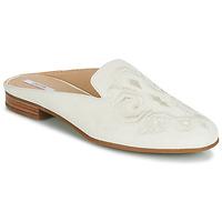 Schoenen Dames Leren slippers Geox D MARLYNA Wit / Geborduurde