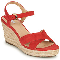 Schoenen Dames Sandalen / Open schoenen Geox D SOLEIL Rood / Koraal