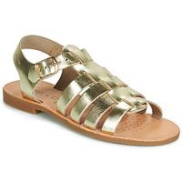 Schoenen Meisjes Sandalen / Open schoenen Geox J SANDAL VIOLETTE GI Goud