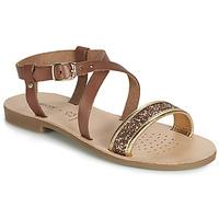 Schoenen Meisjes Sandalen / Open schoenen Geox J SANDAL VIOLETTE GI Bruin