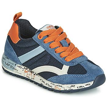 Schoenen Jongens Lage sneakers Geox J ALBEN BOY Marine / Oranje