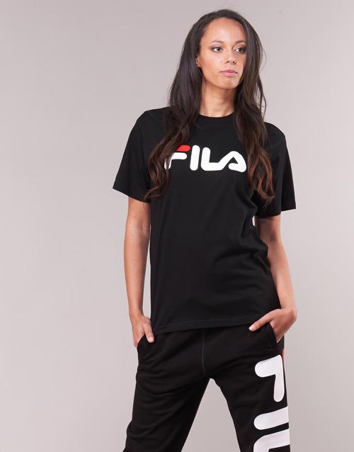 Kleding 58GDfdsfsdgjdiJKJHM  Fila PURE Short Sleeve Shirt Zwart