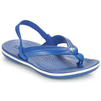 Schoenen Kinderen Sandalen / Open schoenen Crocs CROCBAND STRAP FLIP K Blauw