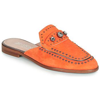 Schoenen Dames Leren slippers Dorking 7783 Oranje