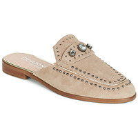 Schoenen Dames Leren slippers Dorking 7783 Taupe