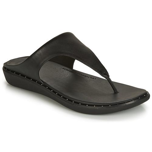 Schoenen Dames Teenslippers FitFlop BANDA II Zwart
