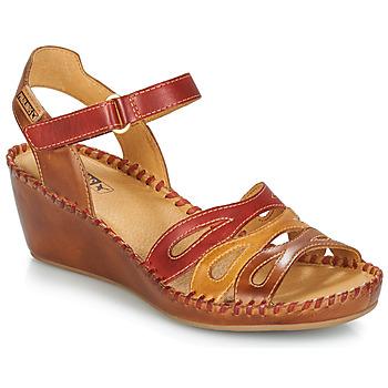 Schoenen Dames Sandalen / Open schoenen Pikolinos MARGARITA 943 Rood / Bruin