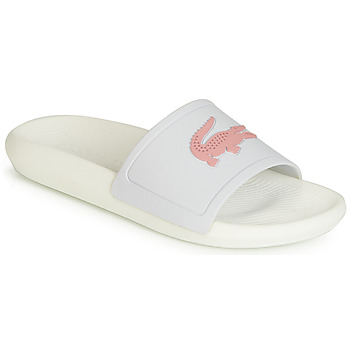 Schoenen Dames slippers Lacoste CROCO SLIDE 119 3 Wit / Roze