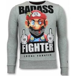 Textiel Heren Sweaters / Sweatshirts Local Fanatic Mario Trui - Fight Club Heren Sweater 35