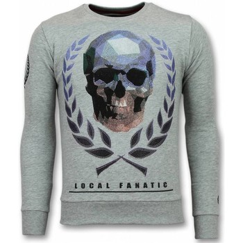 Textiel Heren Sweaters / Sweatshirts Local Fanatic Doodskop Trui - Skull Rhinestone Heren Sweater 35