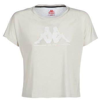 Textiel Dames T-shirts korte mouwen Kappa YERRI Beige / Grijs