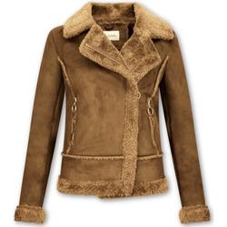 Textiel Dames Jasjes / Blazers Z Design Bikerjack Suede Lammy Coat 28